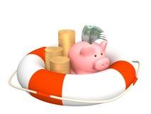 pieniężna kryzys pomoc ilustracji