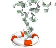 pieniężna kryzys pomoc ilustracja wektor