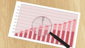 Pieniężna mapa z handlarskimi statystykami, analytical dane - przetwarzać wynika ilustracja wektor