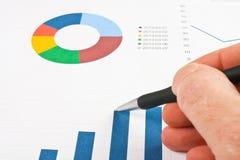Pieniężna wykres analiza obrazy royalty free