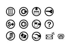pieniężne ikony Zdjęcie Stock