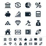 Pieniężnej inwestyci ikony ilustracja wektor