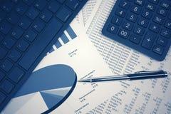 Pieniężnej księgowości rynku papierów wartościowych wykresów analiza obraz royalty free