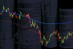 Pieniężni diagramy Obrazy Stock