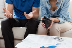 Pieniężni kłopoty w małżeństwie Fotografia Royalty Free