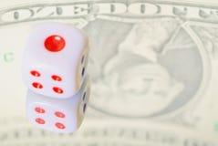 pieniężni pojęć kostka do gry Obrazy Stock
