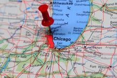pieniężny centrum Chicago Obraz Royalty Free