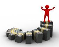 pieniężny diagramme przyrost Zdjęcia Stock