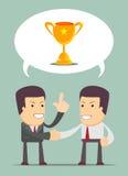 Pieniężny doradca ma rozmowę z mężczyzna ilustracji