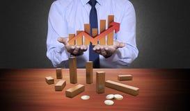 Pieniężny i ekonomiczny tło Zdjęcia Stock