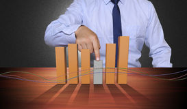 Pieniężny i ekonomiczny tło Obraz Stock