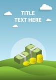 Pieniężny, inwestycjo i pieniądze okładkowy strono, Obrazy Royalty Free