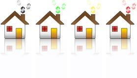 pieniężny kryzysu dom Fotografia Stock