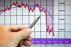pieniężny mapa puszek idzie rynki Obrazy Stock