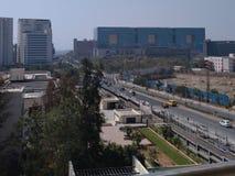 Pieniężny okręg, Hyderabad India zdjęcia stock