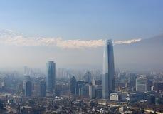 Pieniężny okręg Santiago de Chile, kapitał Chile. zdjęcia royalty free