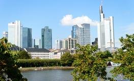 Pieniężny okręg w Frankfurt Zdjęcia Royalty Free