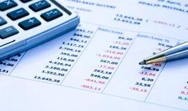 pieniężny raport Fotografia Stock