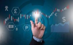 Pieniężny rynku walutowego rynek papierów wartościowych, pieniężny, biznesowy świeczka kij g, Obraz Royalty Free