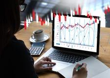 Pieniężny rynku walutowego rynek papierów wartościowych, pieniężny, biznesowy świeczka kij g, Obrazy Stock