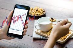 Pieniężny rynku walutowego rynek papierów wartościowych, pieniężny, biznesowy świeczka kij g, Zdjęcie Stock