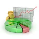Pieniężny sukces biznesowe statystyki Zdjęcia Royalty Free