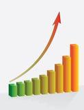pieniężny wykresu przyrosta sukces ilustracji