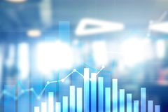 Pieniężny wzrostowy wykres Sprzedaże wzrastają, strategii marketingowej pojęcie obrazy stock