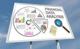 Pieniężnych dane analizy pojęcie na billboardzie Fotografia Royalty Free
