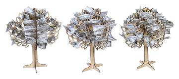 pieniędzy narastający drzewa Obrazy Royalty Free