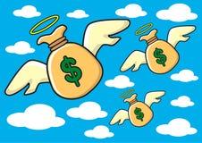 pieniędzy skrzydła Obrazy Royalty Free