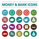 Pieniądze & banka ikony Obrazy Royalty Free
