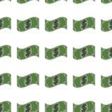 Pieniądze bezszwowy wzór Zdjęcia Royalty Free