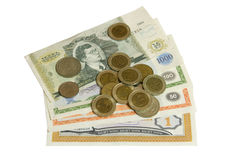 pieniądze biel Zdjęcie Stock