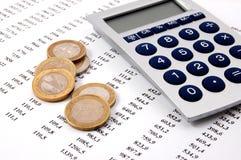 pieniądze biznesowe liczby Fotografia Stock