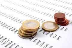 pieniądze biznesowe liczby Zdjęcia Stock
