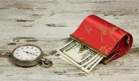 pieniądze czas Obraz Royalty Free