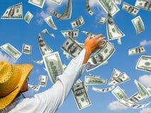pieniądze deszcz Obraz Stock