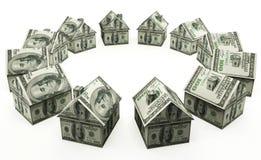 Pieniądze dom Zdjęcie Stock