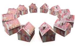 Pieniądze domu funty Zdjęcia Royalty Free