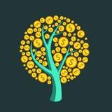 Pieniądze drzewa wektor Fotografia Stock