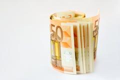 pieniądze euro Obrazy Royalty Free