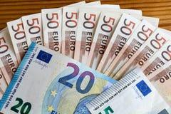 Pieniądze euro banknoty zdjęcia royalty free