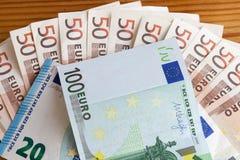 Pieniądze euro banknoty zdjęcie stock