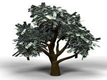 pieniądze euro drzewo Zdjęcia Royalty Free
