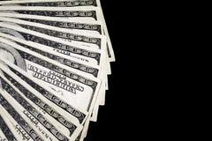 Pieniądze fan obraz stock