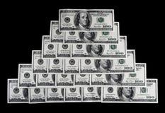 pieniądze finansowego piramida Obrazy Stock