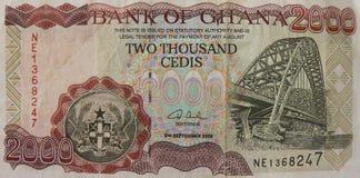 pieniądze ghana zdjęcie stock
