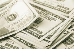 Pieniądze i kostka do gry Obraz Royalty Free