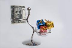 Pieniądze i prezent Obraz Stock